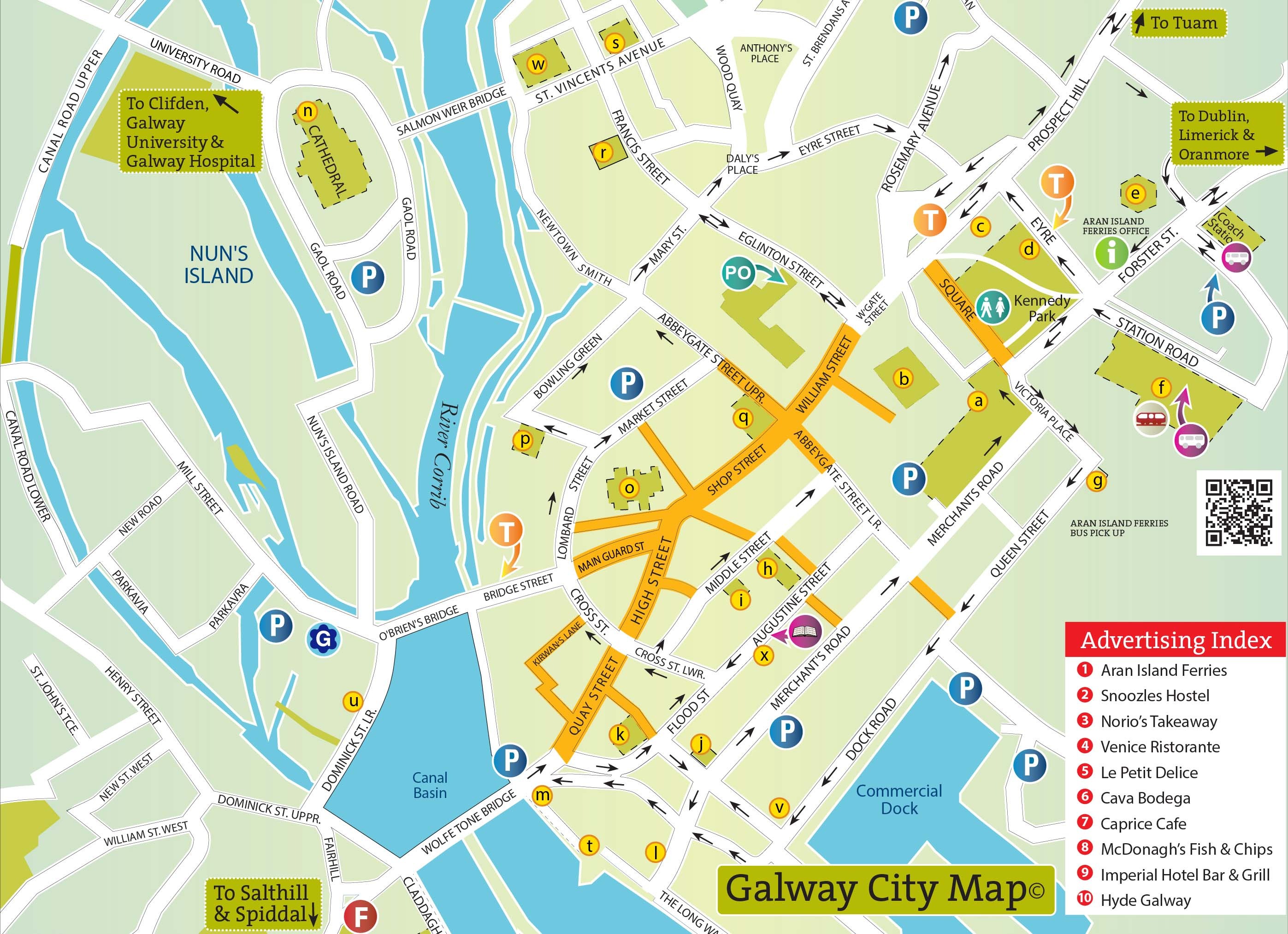 Picture of: Map Of Galway City And County Things To Do Places To Visit In Galway